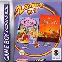 2 Games in 1: Disney Princess + Disney Le Roi Lion